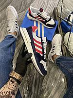 Adidas ZX 500 Blue White Red (Белый) Мужские кроссовки Адидас 500