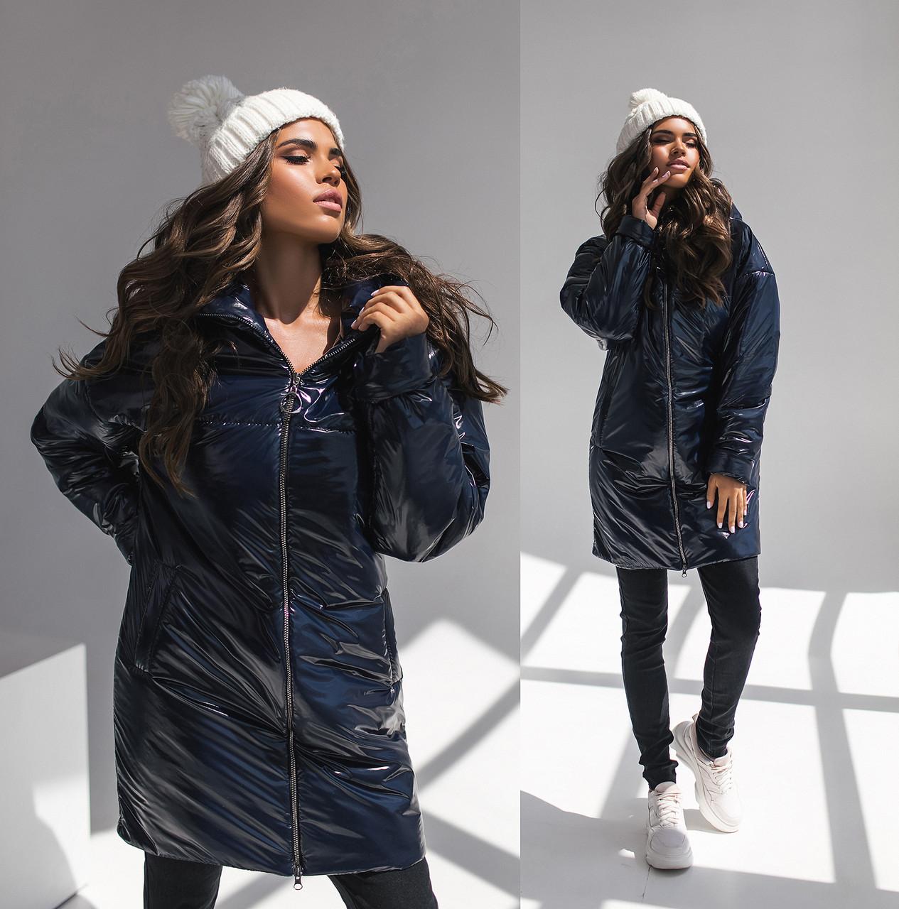 """Демисезонная женская куртка на синтепоне """"Shine"""" с капюшоном"""