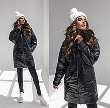 """Демисезонная женская куртка на синтепоне """"Shine"""" с капюшоном, фото 3"""