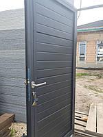 Консольные ворота из сендвич-панелей с калиткой, фото 4