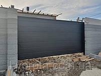 Консольные ворота из сендвич-панелей с калиткой, фото 5