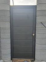 Консольные ворота из сендвич-панелей с калиткой, фото 3