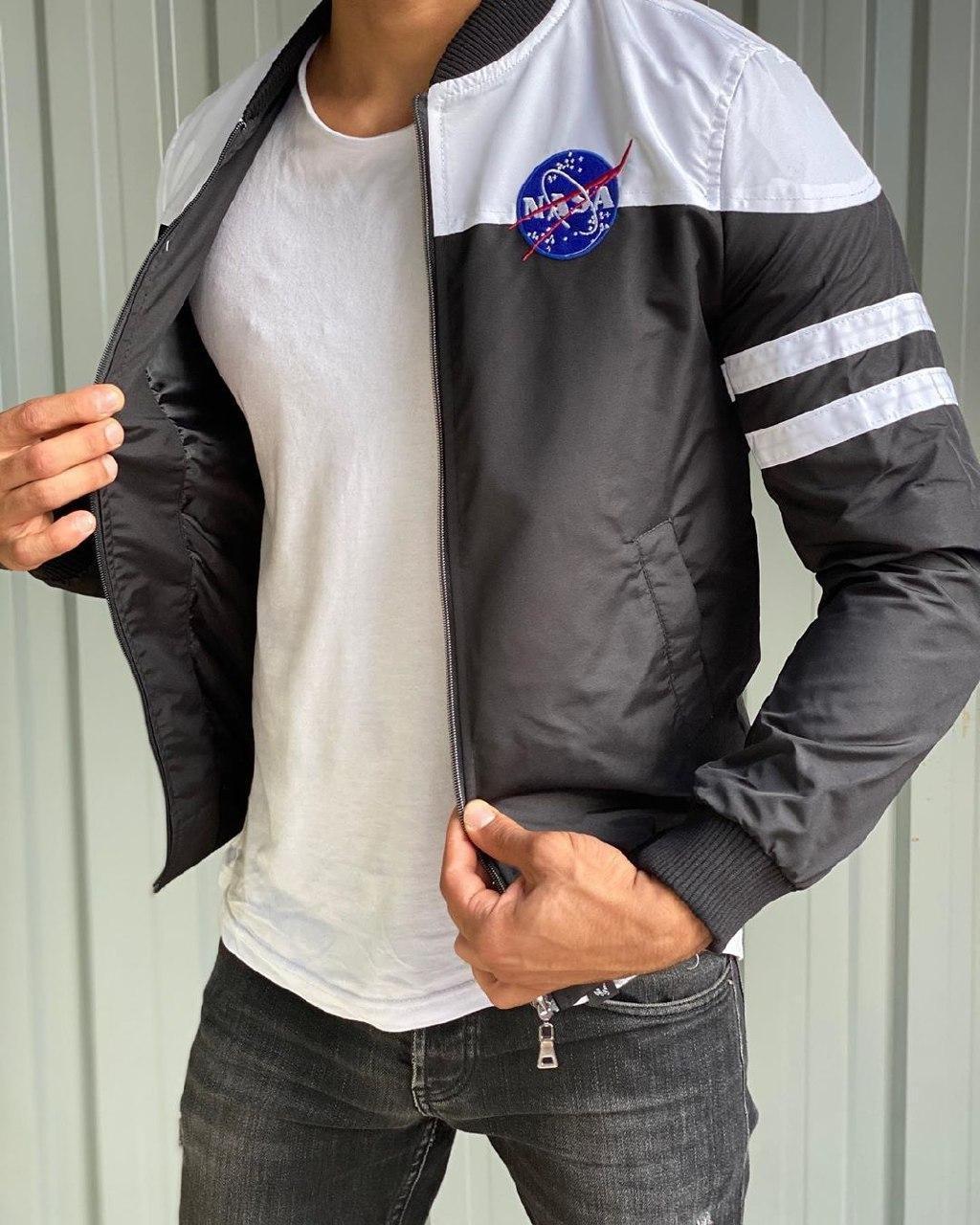 Вітрівка Чоловіча куртка вітровка без капюшона (сіра)