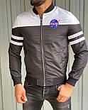 Вітрівка Чоловіча куртка вітровка без капюшона (сіра), фото 2