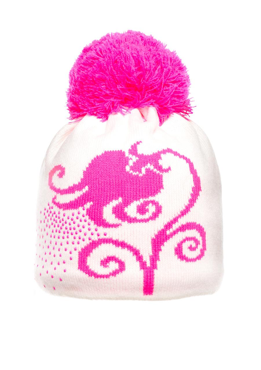 Детская вязанная шапочка с бумбоном.