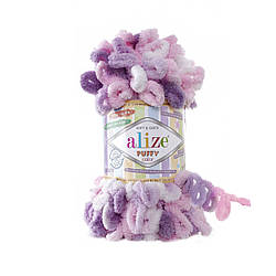 Пряжа фантазийная Alize Puffy Color № 6077