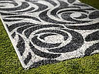 Тканная  Серая ковровая дорожка Эспрессо 100 см