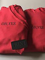 Парные толстовки для парня и девушки с надписью OH,YES.