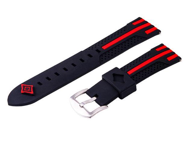 Силіконовий ремінець Primo Dart для годин Samsung Galaxy Watch 3 45mm (SM-R840) - Black&Red