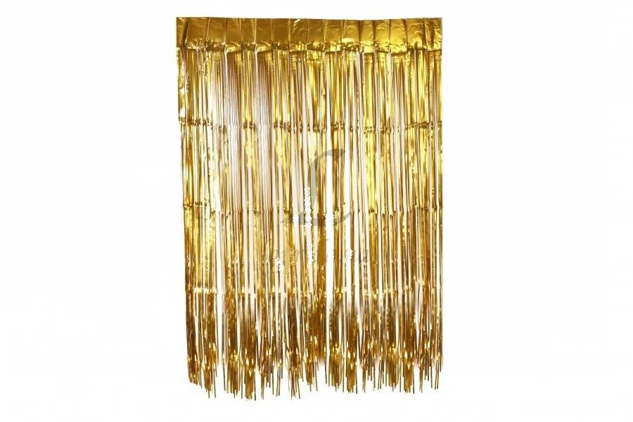 Шторка занавес из фольги для фото зон Золотая 1х3 метра