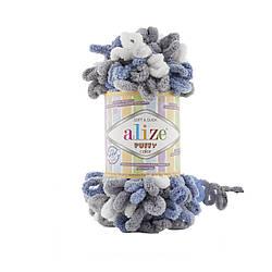 Пряжа фантазийная Alize Puffy Color № 6075