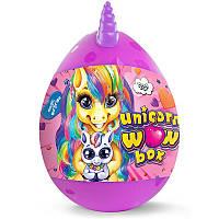 Детский игровой набор для творчества Danko Toys Яйцо Единорога Unicorn WOW Box 20 Сюрпризов Розовый