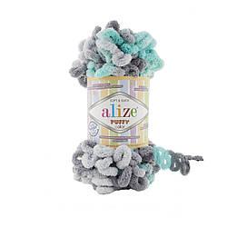 Пряжа фантазийная Alize Puffy Color № 6076