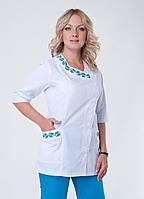 """Медицинский костюм женский """"Health Life"""" с вышивкой коттон 3226"""