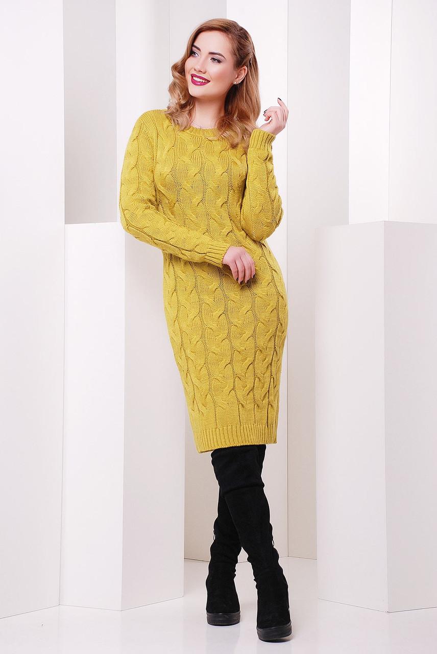 Вязаное платье 15цветов! 42-48 размеры