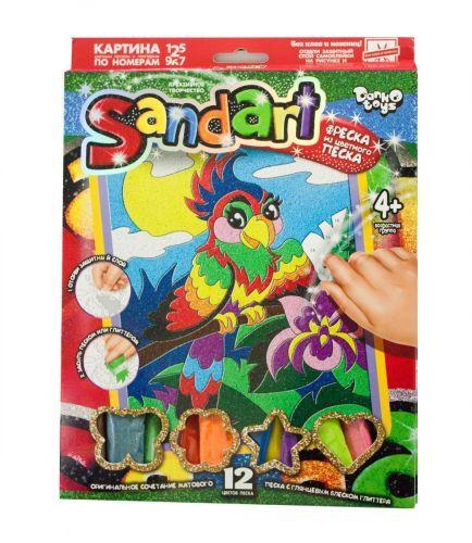 "Набор для творчества ""Sandart"" Попугай SA-01-06  sco"