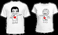 """Парные футболки """"Love is..."""""""