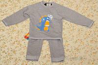 Комплект на мальчика (джемпер зверо-монстр и брюки мальчуковые) футер 2-нитка