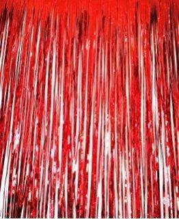 Шторка занавес из фольги для фото зон Красная 1х3 метра