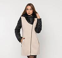 Пальто комбинированное кашемировое зимнее норма+батал