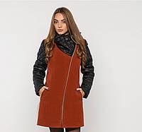Пальто комбинированное кашемировое зимнее