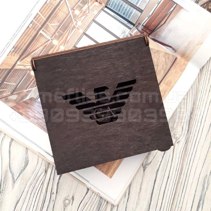 Деревянная коробка для ремня Giorgio Armani