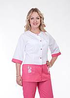 """Медицинский костюм женский """"Health Life"""" с вышивкой коттон 3228"""