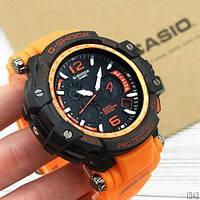 Часы Касио Джи-шок Casio G-Shock GPW-1000 Wristband Спортивные, Мужские, чоловічий годинник, чорні Оранжевые