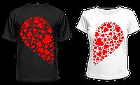 """Парные футболки """"Сердце"""", фото 1"""