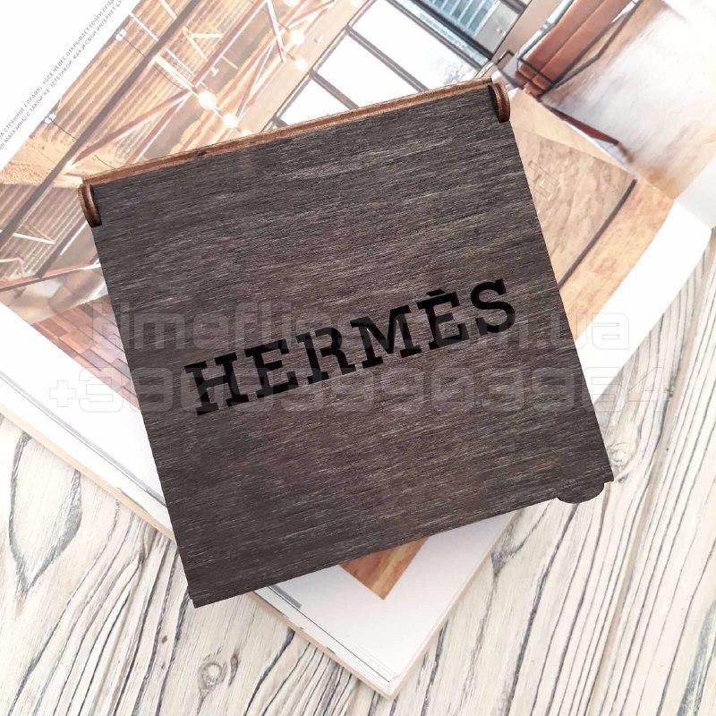 Деревянная коробка для ремня Hermes