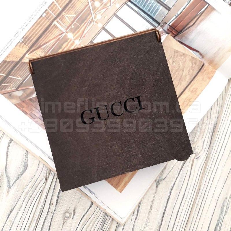 Дерев'яна коробка для ременя Gucci