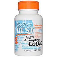 Коэнзим Q10 с маслом розмарина, Coenzyme 100 mg, Dr. Best, 120 гелевых капсул
