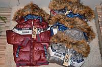 Зимняя куртка на синтепоне для мальчиков 92\98-128 см