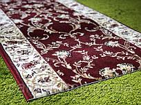 Ворсовая бордовая ковровая дорожка Lotos, Karat Carpet: 80; 100; 120(2.5); 150(2.05); 200 (2.64)смсм