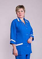 """Распродажа Медицинский костюм женский 50 и 52 размер """"Health Life"""" габардин 1205"""