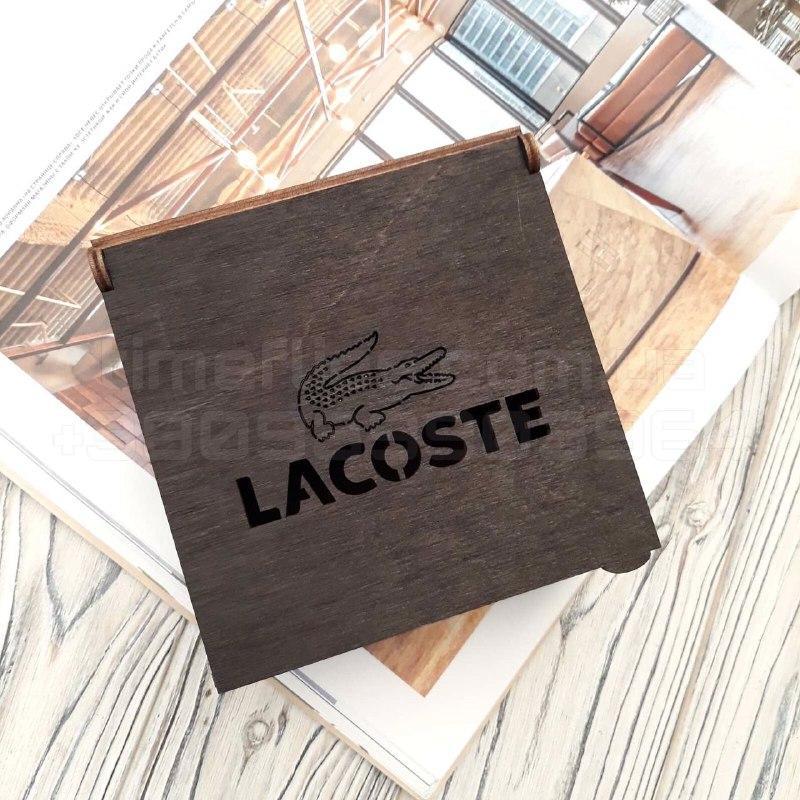 Деревянная коробка для ремня Lacoste