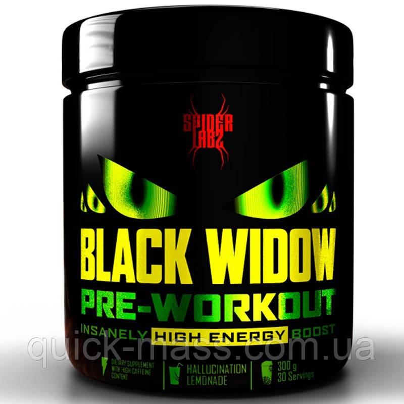 Предтренировочный комплекс Spider Labz Black Widow 300 грамм