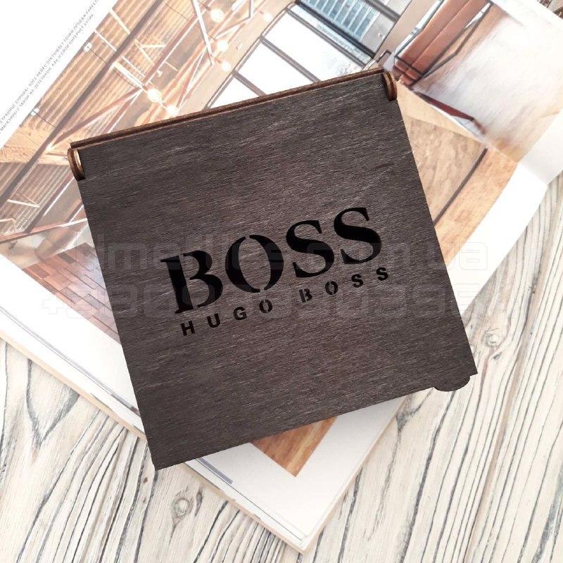 Деревянная коробка для ремня Hugo Boss