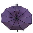 Женский зонт полуавтомат Max на 10 спиц с цветочным узором Коричневый (2018-1), фото 6