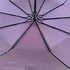 Женский зонт полуавтомат Max на 10 спиц с цветочным узором Коричневый (2018-1), фото 7