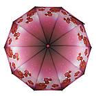 Женский зонт-полуавтомат с орхидеями от Flagman Малиновый (733-1), фото 2