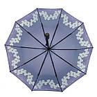 Женский зонт-полуавтомат с орхидеями от Flagman Фиолетовый (733-8), фото 4
