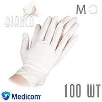 Перчатки латексные Medicom Safe Touch E-Series С ПУДРОЙ. Размер M (1126С)