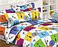 """Комплект дитячий в ліжечко з ранфорсу з простирадлом на резинці під замовлення """"Різнокольорові котики"""", фото 2"""