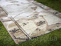 Ворсовая бежевая ковровая дорожка Лотос, Karat Carpet: 80 см