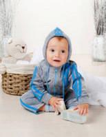 Cпортивный костюм с капюшоном велюровый на мальчика