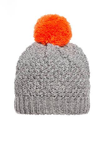 Детская красивая теплая удобная вязанная шапочка с бумбоном, Польша., фото 2