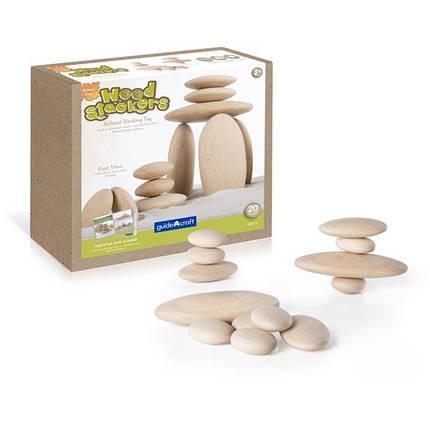 Набор блоков Guidecraft Natural Play Деревянный булыжник (G6771), фото 2