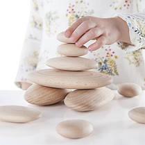 Набор блоков Guidecraft Natural Play Деревянный булыжник (G6771), фото 3