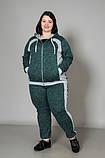 Спортивний жіночий костюм великого розміру, зелений, фото 2